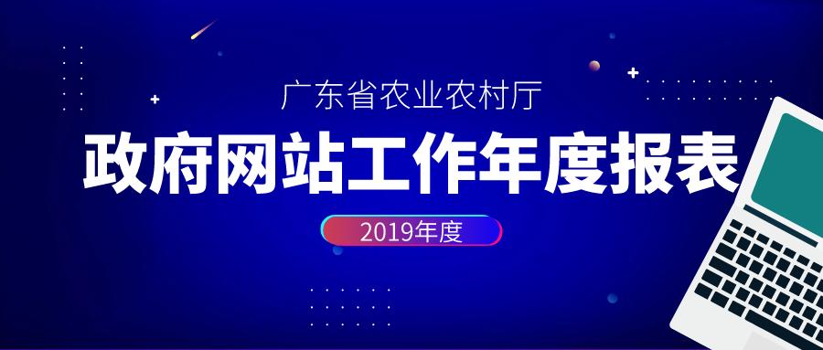 广东省农业农村厅政府网站工作年度报表(2019 年度).pdf